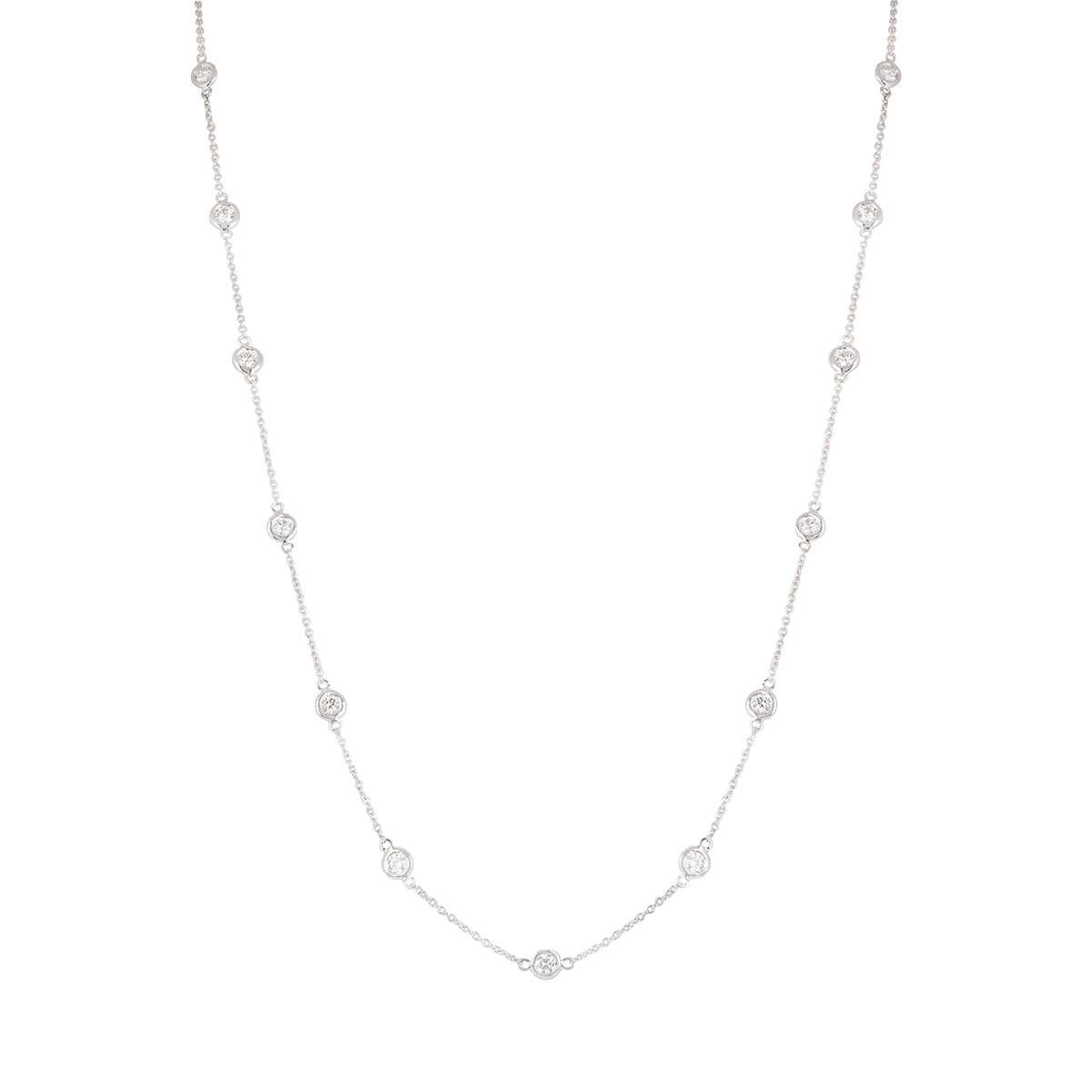 White Gold Diamond Necklace 2.31ct